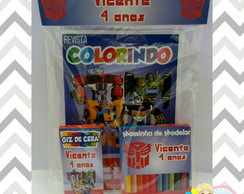 Kit Colorir - Transformers