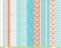 Kit digital Baby - Scrapbook+brinde