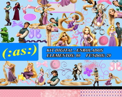Kit Digital Scrapbook Enrolados Rapunzel