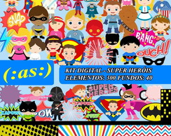 Kit Digital Scrapbook Super Heroes ++