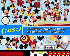 Kit Digital Scrapbook Mickey Minnie