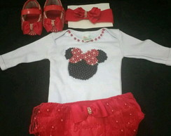 Kit baby luxo da Minnie
