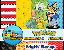 Kit Digital Scrapbook Pokemon