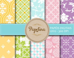 Kit Digital PAPEL FLORAL 481