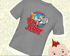 Camiseta Infantil Tom e Jerry