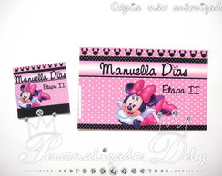 Kit etiqueta escolar Minnie Rosa