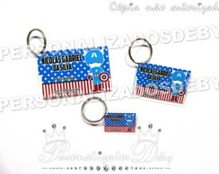 KIT 3 TAG BAG CAPITAO AMERICA CUTE