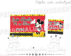 Kit 70 Etiquetas Escolares MICKEY