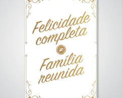 Placa Decorativa Frases Familia A4