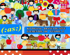 Kit Digital Scrapbook Branca Neve ++ C