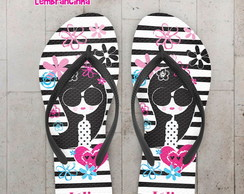 Chinelo Infantil Pool Party Flores