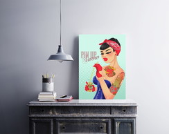 "Placa decorativa ""Branca de Neve Pin-Up"""