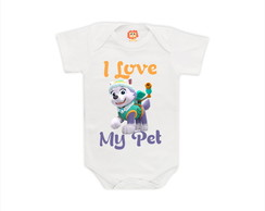 Body ou camiseta I love My Pet I