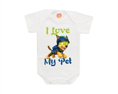 Body ou Camiseta I Love My Pet II