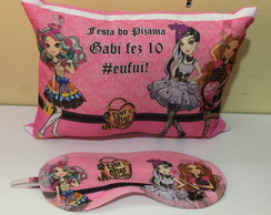 kit almofada e mascara ever after high