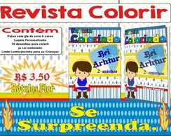 Revista colorir Rei Arthur