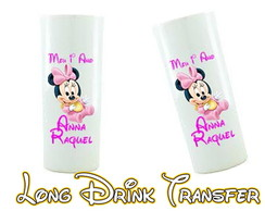 Copos Long Drink Minnie Rosa