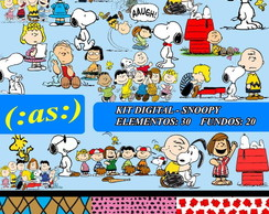 3Kit Digital Scrapbook Snoopy + Completo