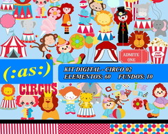 Kit Digital Scrapbook Circo 2 + Completo