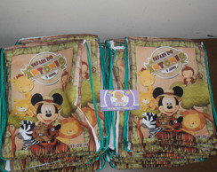 Mochilinha 22x26 safari floresta mickey