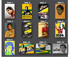 placas Decorativas Ayrton Senna