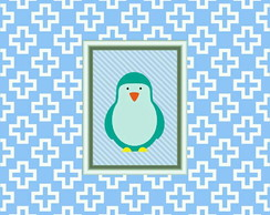 Poster digital pinguim
