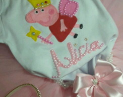 Kit Luxo Body Saia Tiara Peppa Pig