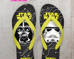 Chinelo Infantil Star Wars Preto