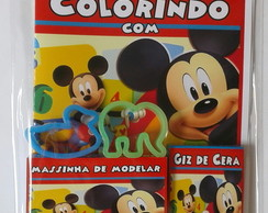 Kit Colorir com Massinha Mickey