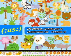 Kit Digital Scrapbook Safari Zoo Animal2