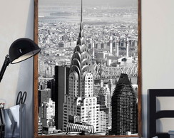 Quadro Decorativo Nova York c Moldura A3