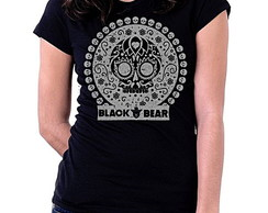 BABY LOOK BLACK BEAR - MEXICAN SKULL