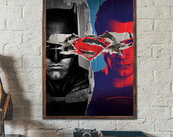Quadro Decorativo Batman x Superman A3