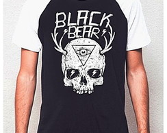 CAMISETA RAGLAN BLACK BEAR - SKULL