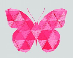 Capacho Butterfly rosa - 50x80cm
