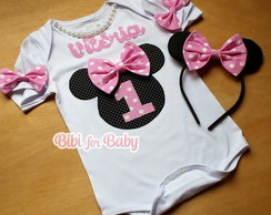 Kit Body+ orelha Minnie Rosa Soft