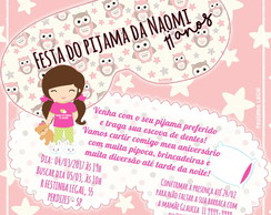 Convite Festa do Pijama digital virtual