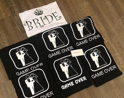 Camiseta Game Over Preta