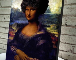 Poster / Quadro A4 Monalisa Black Power