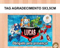 Tag Agradecimento Transformers Rescue