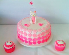 Bolo Decorado Hello Kitty (Anas Cake RJ)