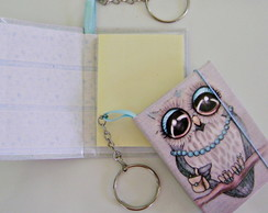 Chaveiro Feminino Porta Post-it C003