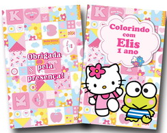 revista colorir hello kitty 14x10