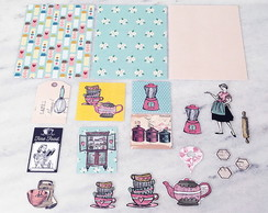 KIT SCRAPBOOK COOKING VINTAGE