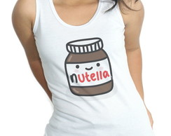 Camiseta Regata Baby Look Nutella
