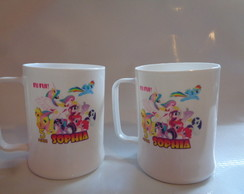 Caneca Acrílica de 300ml My Little Pony