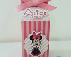 Caixa Milk tema Minnie Rosa