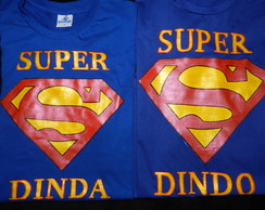 KIT 2 camisetas - SUPER DINDA+ DINDO