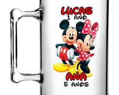 50 Canecas Acríli. Mickey e Minnie 300ml