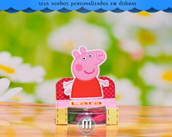 Porta Latinha Acrilica Mint to Peppa Pig